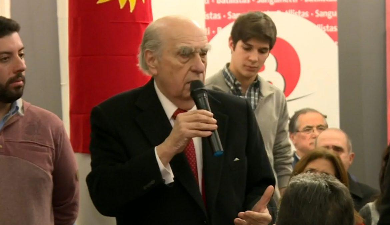 Reunión con militantes del sector en el Prado