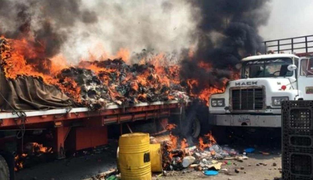 Sanguinetti critica a Maduro por quema de camiones con ayuda