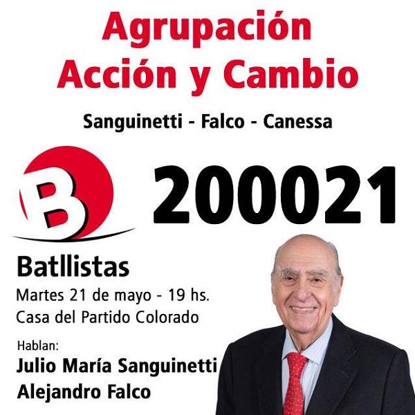 Lanzamiento Lista 2000 21 de Alejandro Falco