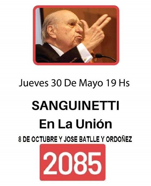 Acto de la 2085 en Montevideo