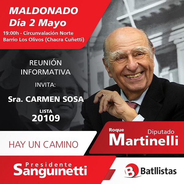 Maldonado: Reunión Informativa Lista 20109