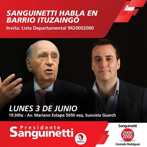 Sanguinetti en Barrio Ituzaingó