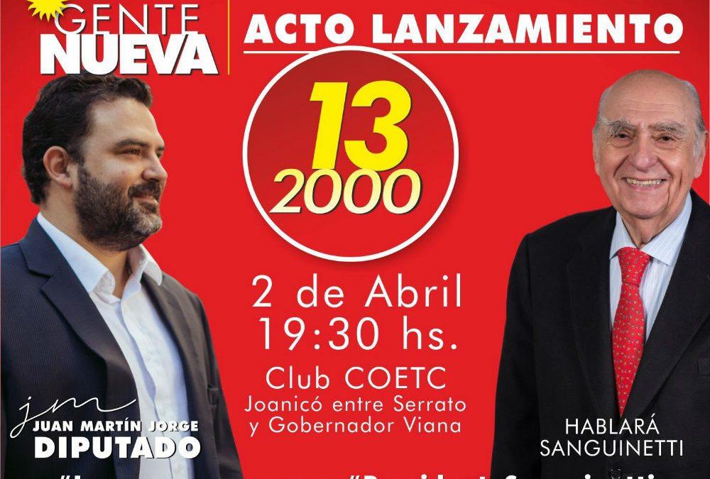 Acto Agrupación GENTE NUEVA Lista 132000 en Club COETC de la Unión