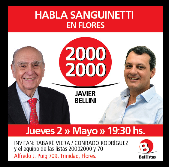 Sanguinetti, recorrida por Flores – Lista 20002000