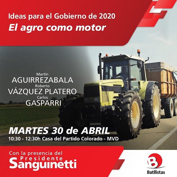 Ciclo Ideas para el Gobierno del 2020: EL AGRO COMO MOTOR