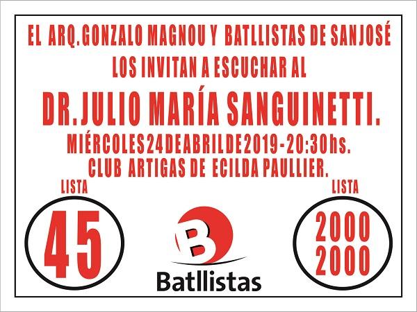 Acto en Ecilda Paullier (San José)