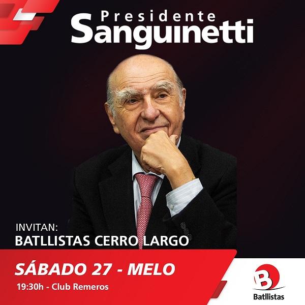 Acto en Melo de Batllistas Cerro Largo