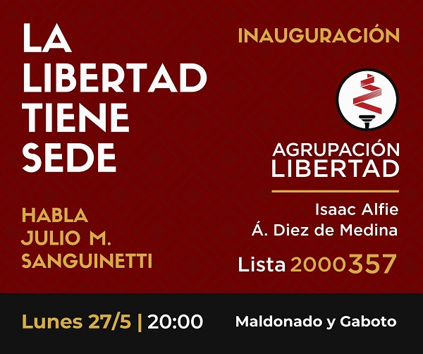 Agrupación Libertad inaugura sede en Montevideo