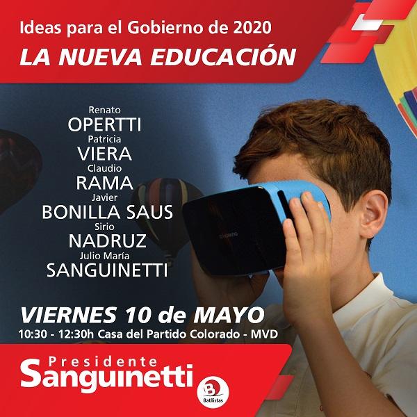 Ciclo Ideas para el Gobierno del 2020: LA NUEVA EDUCACIÓN