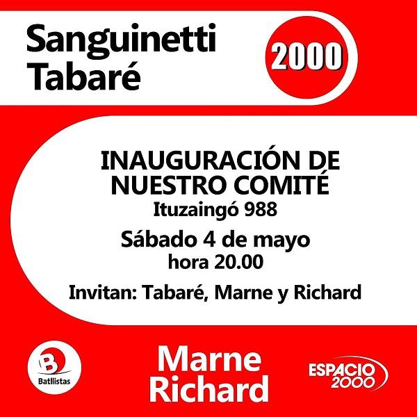 Rivera: Inauguración Comité Espacio 2000