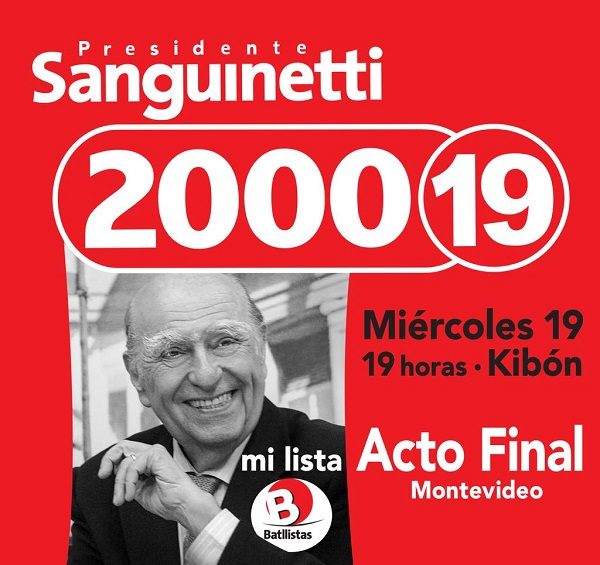 Acto final Lista 2000 19 Montevideo