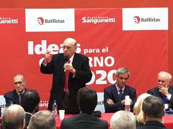 Sanguinetti: Los gobiernos deben ser evaluados ¨aquí y ahora¨